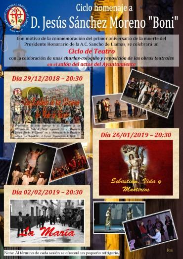 Ciclo de teatro en homenaje a Jesús Sánchez Moreno