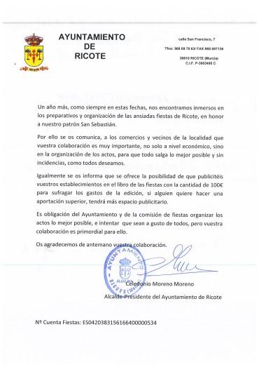 NOTA INFORMATIVA COLABORACIÓN FIESTAS 2019