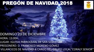 PREGÓN DE NAVIDAD 2018