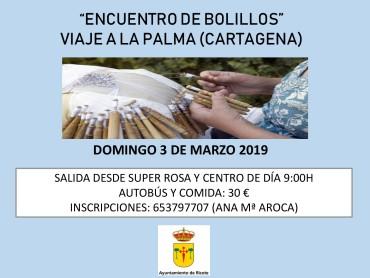 """ENCUENTRO DE BOLILLOS """"VIAJE A LA PALMA -CARTAGENA"""""""