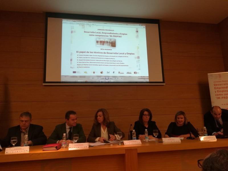 El Ayuntamiento de Ricote asiste a las Jornadas Regionales Desarrollo Local, Emprendimiento y Empleo como competencias 'IM-PROPIAS'