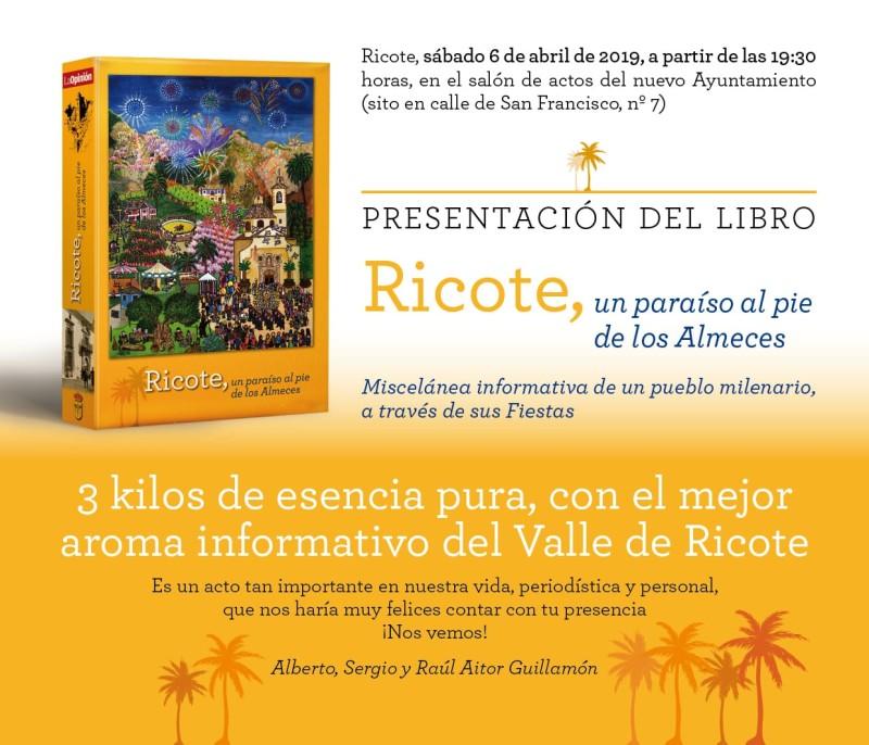 """Presentación del libro """"Ricote: un paraiso al pie de los Almeces"""""""