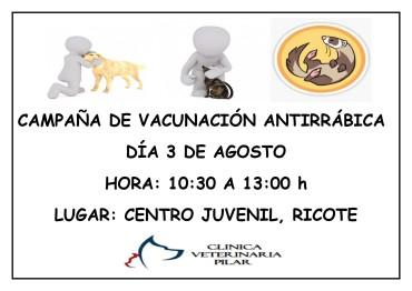 CAMPAÑA DE VACUNACIÓN ANTIRRÁBICA 2019