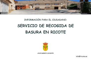 SERVICIO DE BASURA EN RICOTE