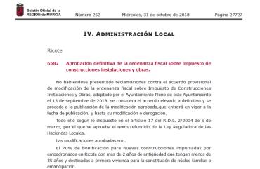 IMPUESTO DE CONSTRUCCIONES, INSTALACIONES Y OBRAS