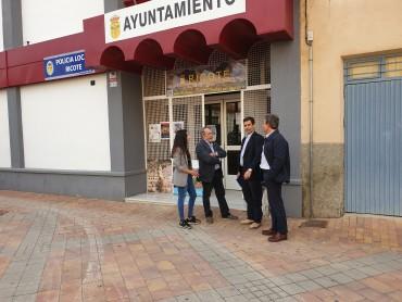 VISITA DEL CONSEJERO DE FOMENTO Y DEL DIRECTOR DE CARRETERAS DE LA CARM