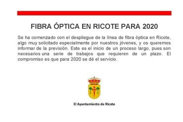 FIBRA ÓPTICA EN RICOTE