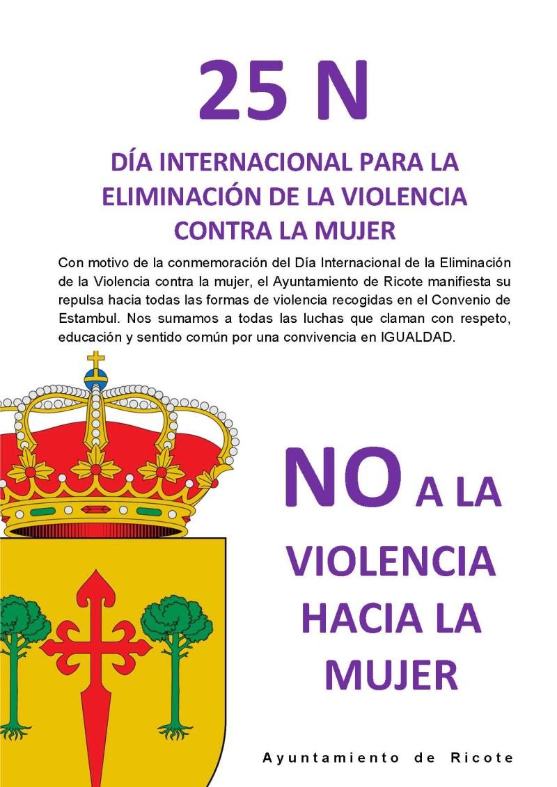 25 N DÍA INTERNACIONAL PARA LA ELIMINACIÓN DE LA VIOLENCIA CONTRA LA MUJER