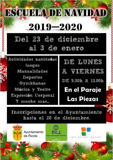 ESCUELA MUNICIPAL DE NAVIDAD 2019-2020