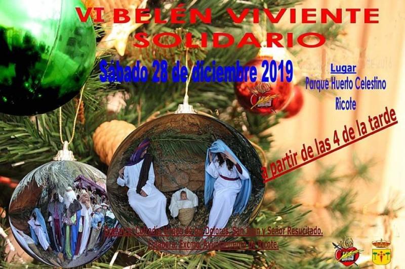VI BELÉN VIVIENTE SOLIDARIO – SÁBADO 28/12/19