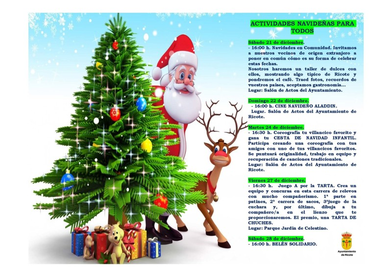 ACTIVIDADES TEMPORADA DE NAVIDAD (2 de 3)