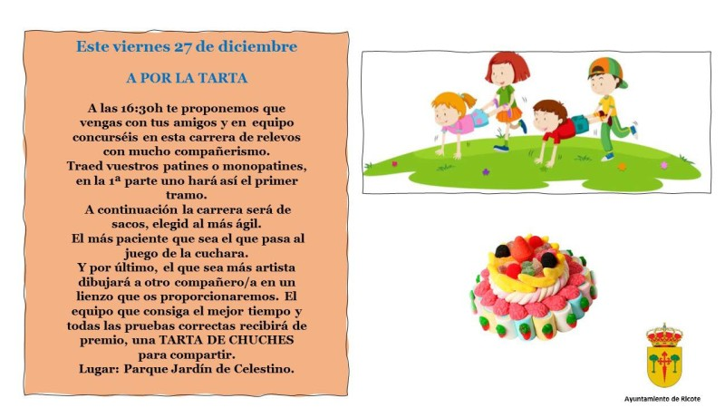 HOY ACTIVIDAD ¡A POR LA TARTA!