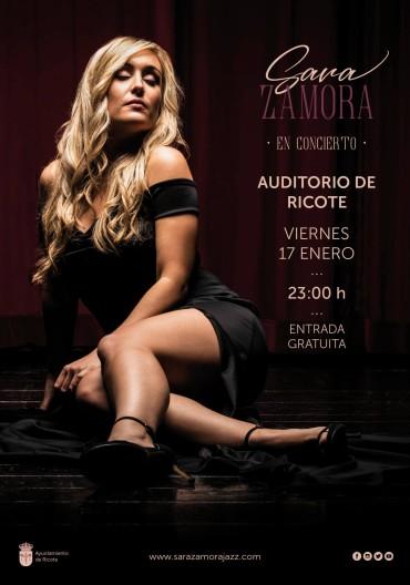 CONCIERTO DE SARA ZAMORA – VIERNES 17 DE ENERO 2020, A LAS 23:00 HORAS EN EL AUDITORIO