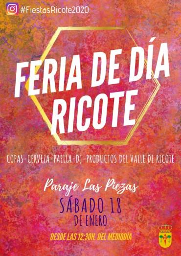 I FERIA DE DIA EN RICOTE – 18 ENE. – PARAJE DE LAS PIEZAS