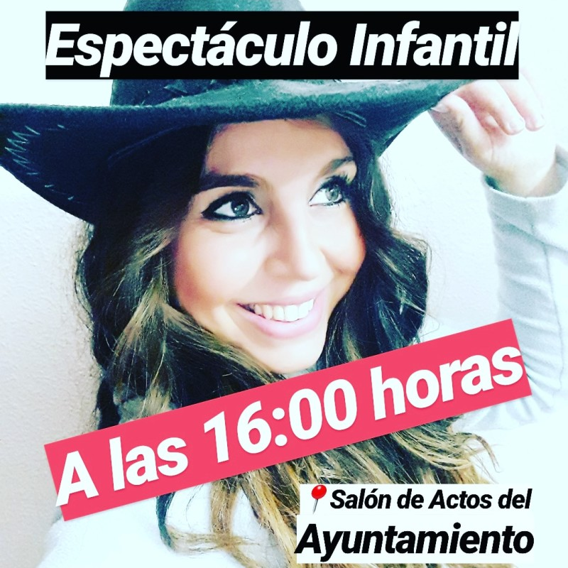 ESPECTÁCULO INFANTIL A LAS 16:00 HORAS