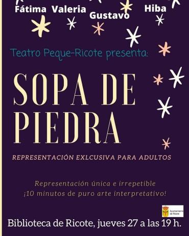"""REPRESENTACIÓN """"SOPA DE PIEDRA"""""""