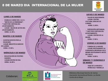 PROGRAMA DE ACTIVIDADES 8 DE MARZO DIA INTERNACIONAL DE LA MUJER