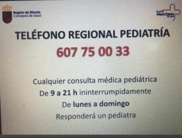 TELÉFONO REGIONAL DE PEDIATRÍA