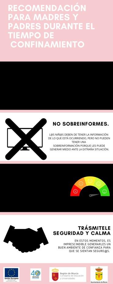 """PROGRAMA PREVENCION ABSENTISMO ESCOLAR RICOTE 2020 """"RECOMENDACIONES DURANTE EL COVID-19″"""