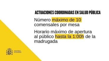 NUEVAS MEDIDAS DEL MINISTERIO DE SANIDAD FRENTE AL COVID-19