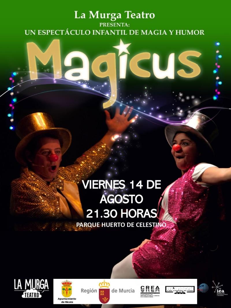 """ESPECTÁCULO INFANTIL """"MAGICUS"""""""