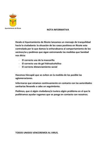 SITUACION ACTUALIZADA COVID 19