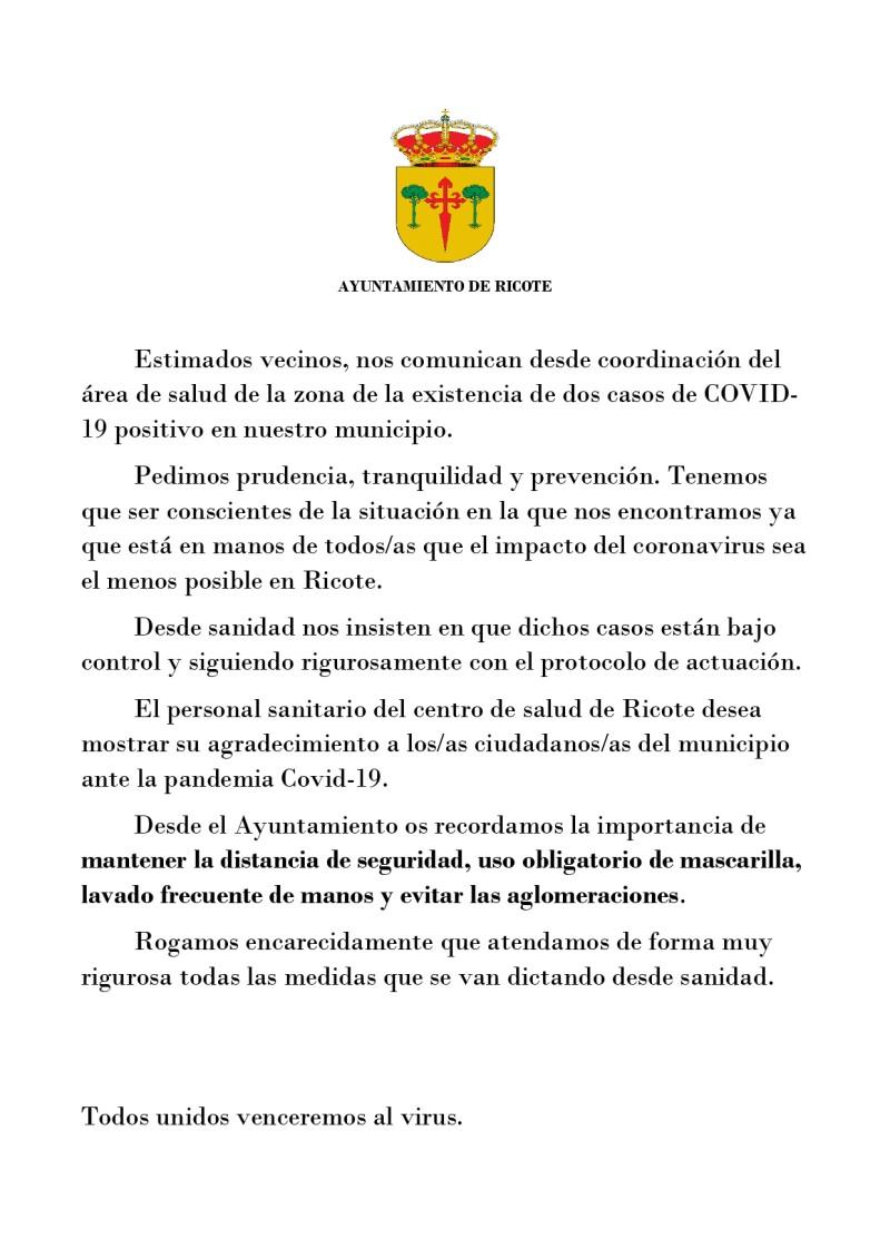 SITUACIÓN ACTUALIZADA COVID-19