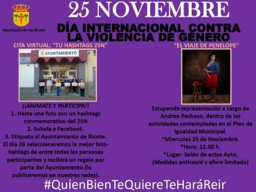 DIA INTERNACIONAL CONTRA LA VIOLENCIA DE GÉNERO 25N