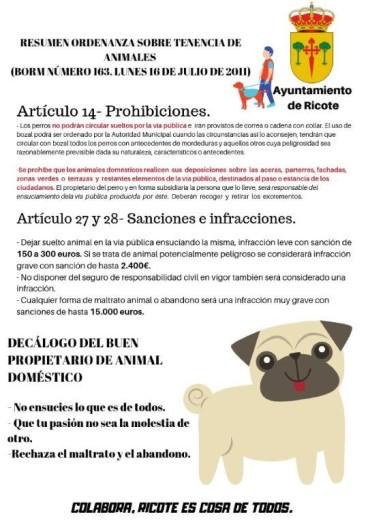ORDENANZA SOBRE TENENCIA DE ANIMALES