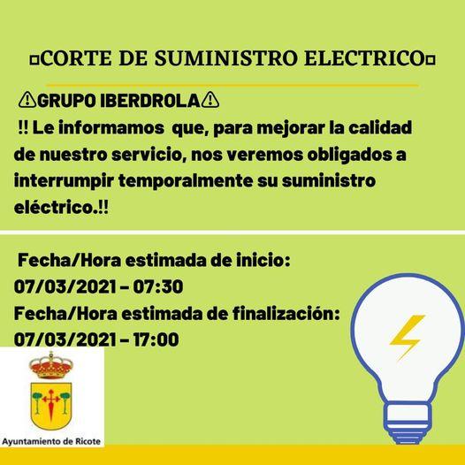 CORTE SUMINISTRO ELECTRICO