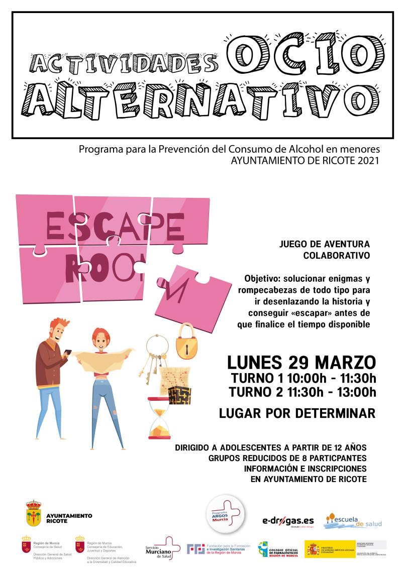 "ACTIVIDADES DE OCIO ALTERNATIVO: ""ESCAPE ROOM"""