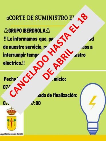 CANCELADO CORTE SUMINISTRO ELECTRICO