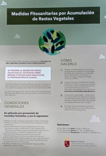 MEDIDAS FITOSANITARIAS POR ACUMULACIÓN DE RESTOS VEGETALES