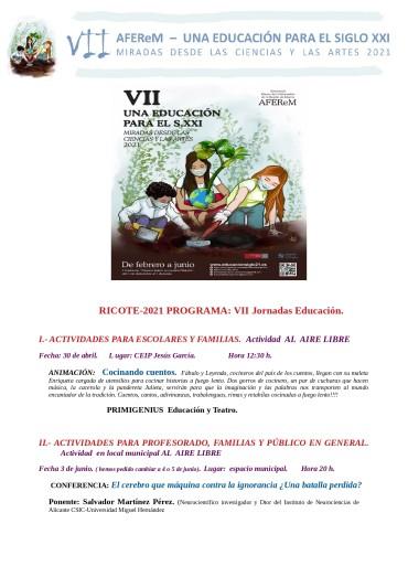VII JORNADAS DE EDUCACIÓN