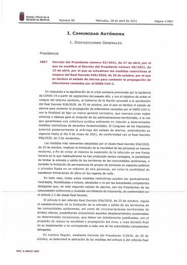 ACTUALIZACIÓN MEDIDAS RESTRICTIVAS COVID19