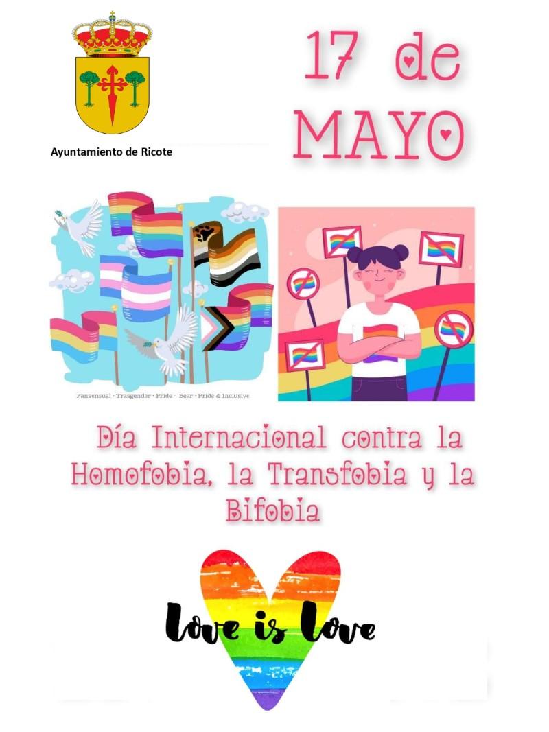 17 de Mayo : Día Internacional contra la Homofobia, la Transfobia y la Bifobia
