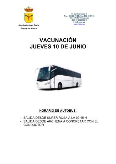 AUTOBÚS VACUNACIÓN COVID-19
