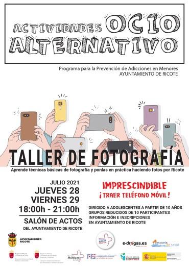 """ACTIVIDADES DE OCIO ALTERNATIVO: """"TALLER DE FOTOGRAFÍA"""""""