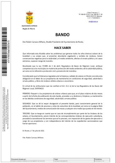 BANDO SOLARES