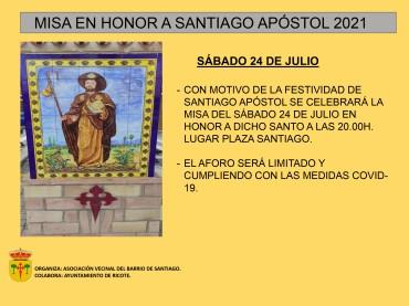 MISA EN HONOR A SANTIAGO APOSTOL 2021