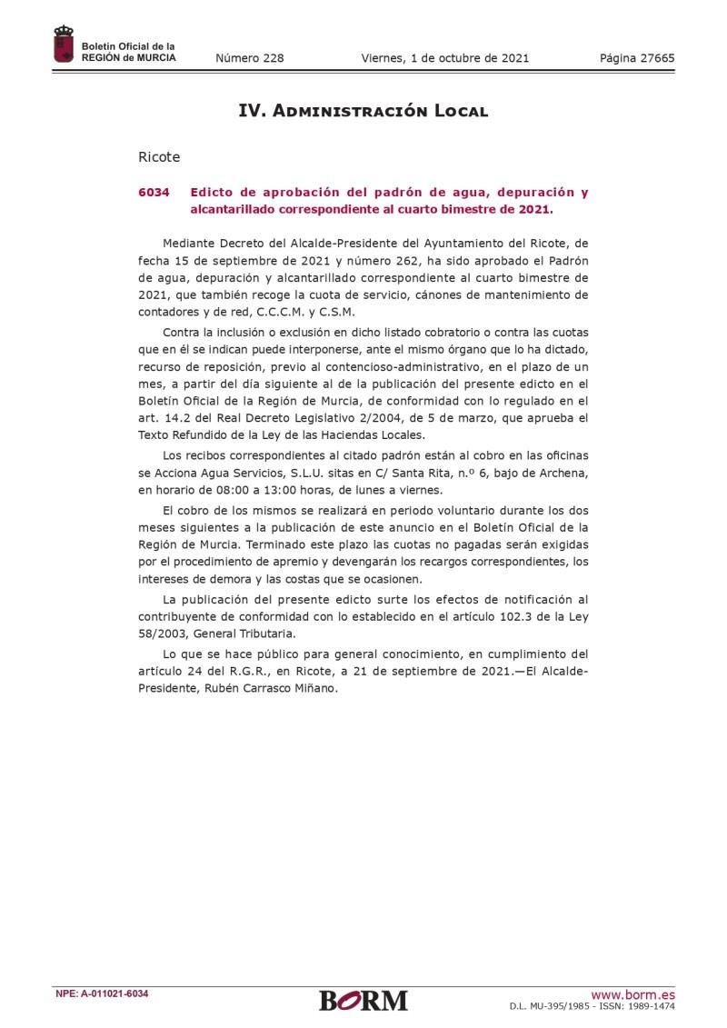Publicación BORM Padrón de Agua y Alcantarillado 4º bimestre 2021_page-0001