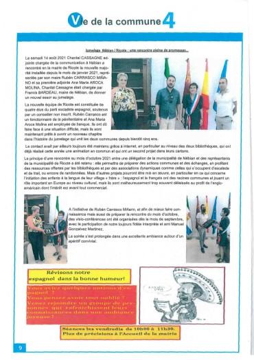 LOS MEDIOS DE PRENSA FRANCESES SE HACEN ECO DE LA VISITA DE LA DELEGACIÓN DE GOBIERNO FRANCESA, QUE TUVO LUGAR ESTE VERANO EN NUESTRO MUNICIPIO.